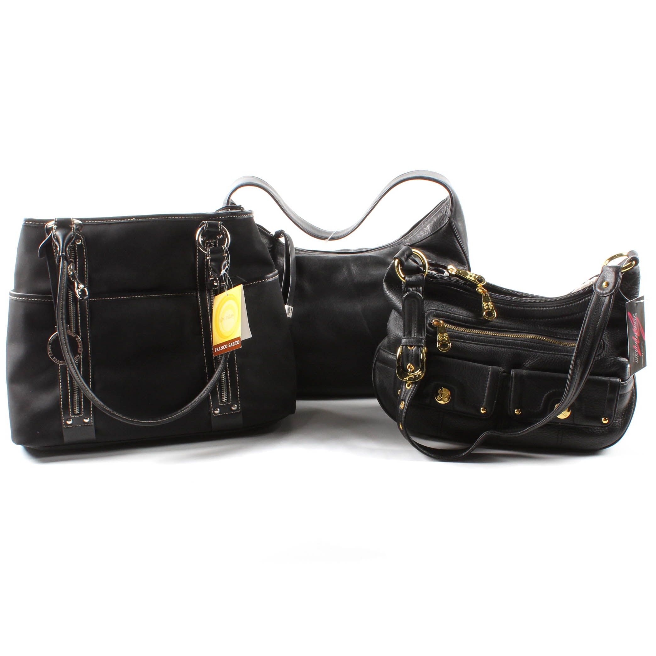 Black Handbags Featuring Franco Sarto and MICHAEL Michael Kors