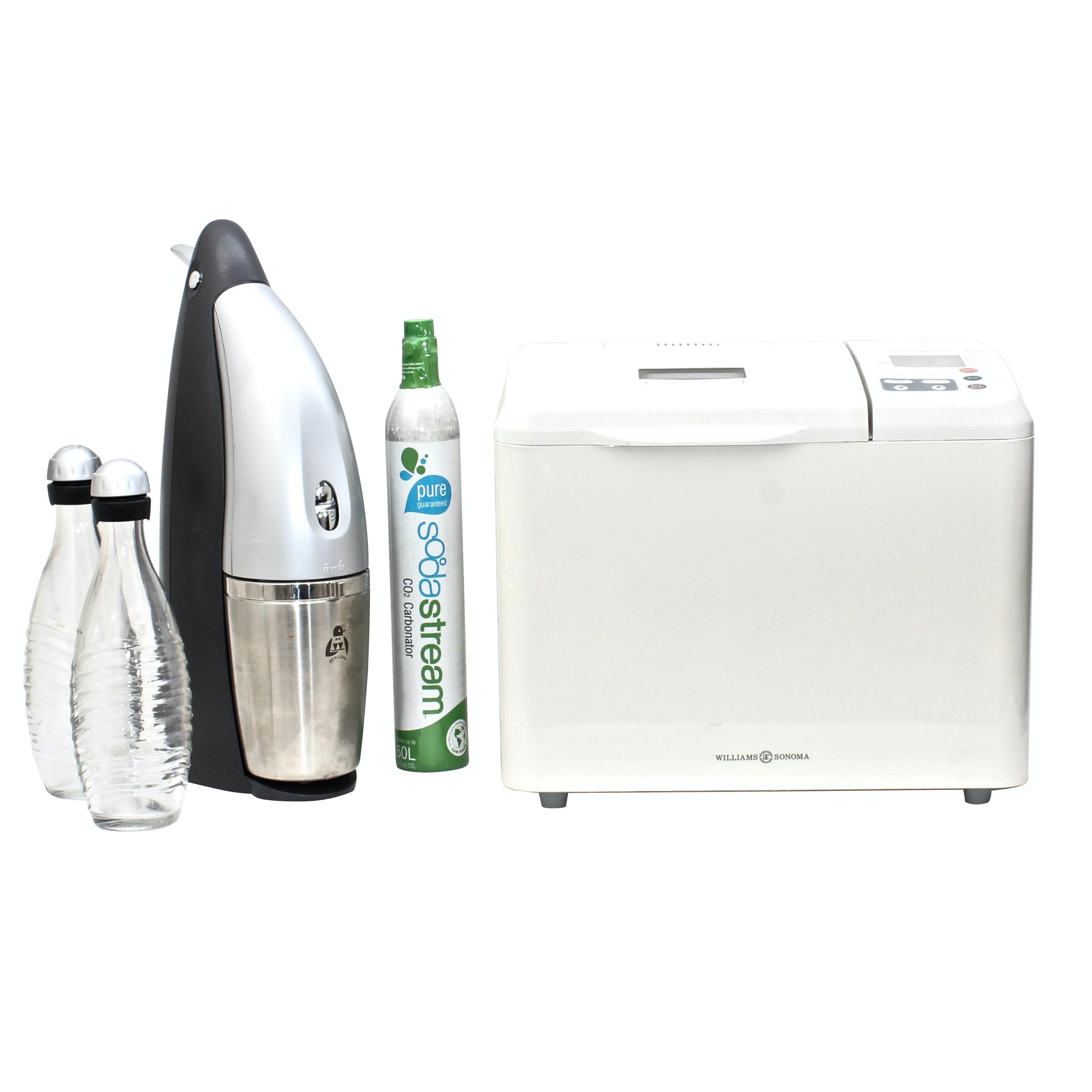 Williams Sonoma Breadmaker and Penguin Soda Stream Machine