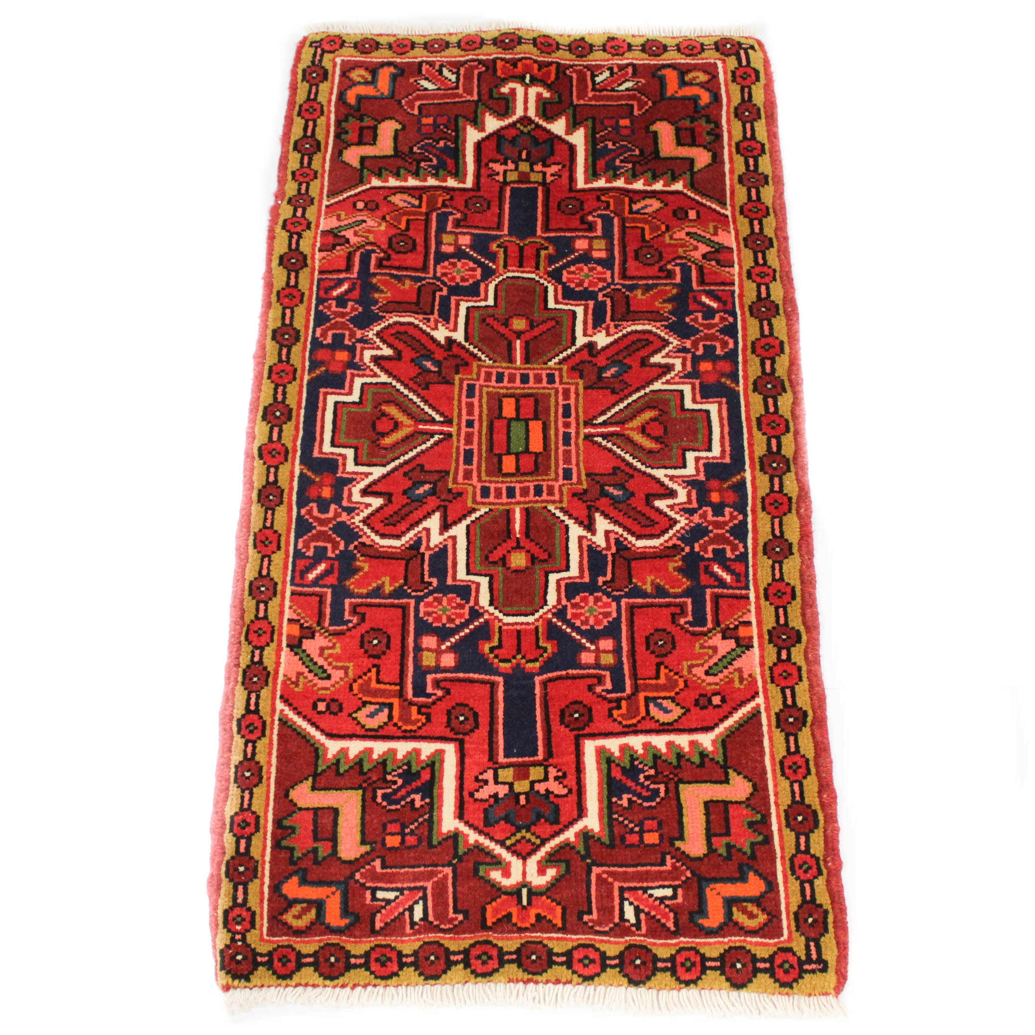 Fine Hand-Knotted Persian Heriz Rug