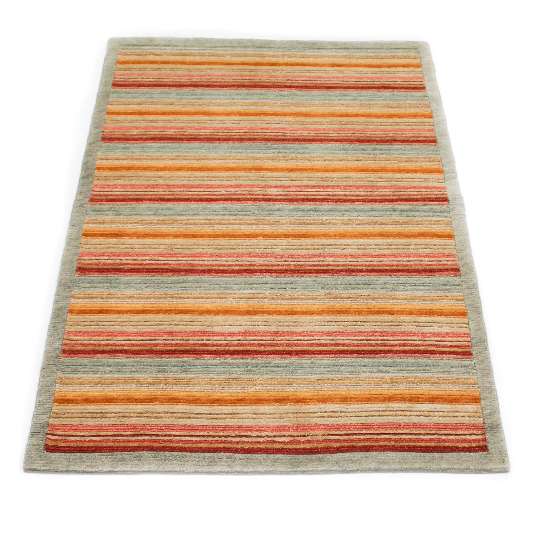 Fine Hand-Knotted Sino-Persian Gabbeh Area Rug