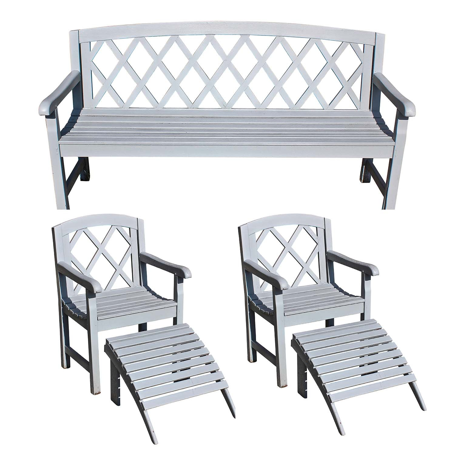 Three Piece Teak Patio Set