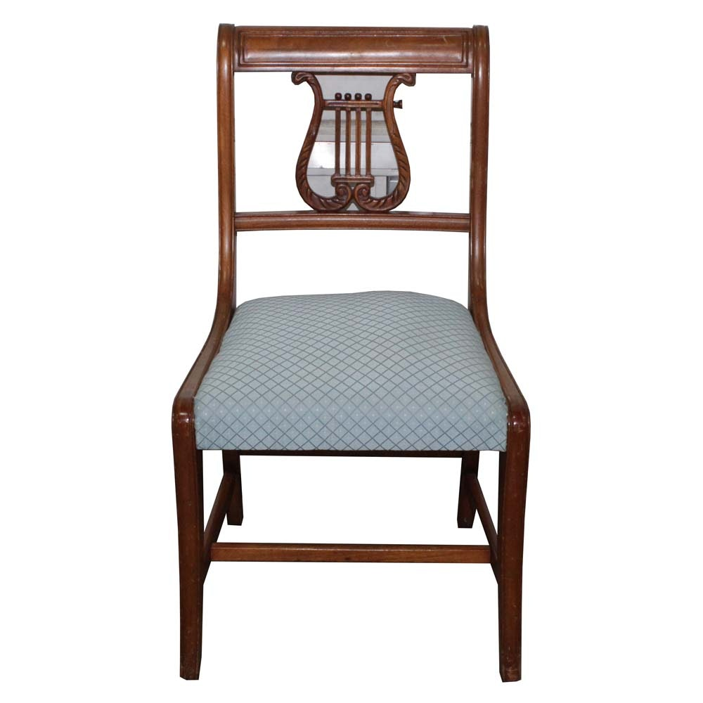 Duncan Phyfe Style Lyre Back Side Chair