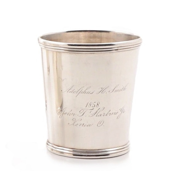 Dated 1858 E & D. Kinsey Sterling Silver Mint Julep Cup
