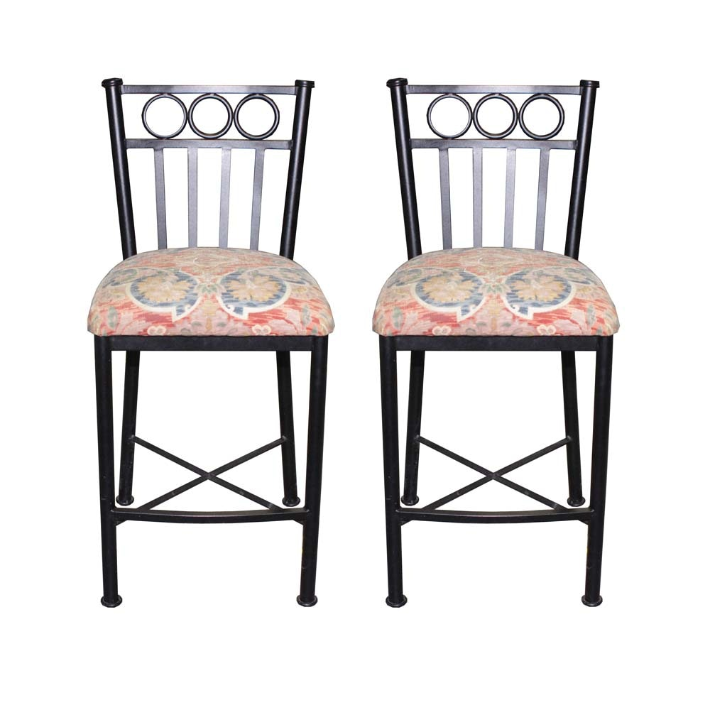 Contemporary Wrought Iron Barstools