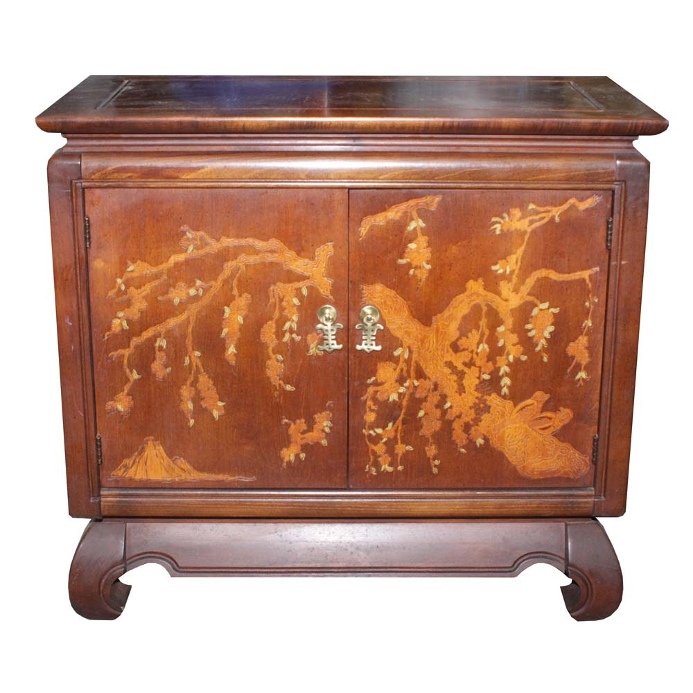 Chinoiserie Decorated Credenza