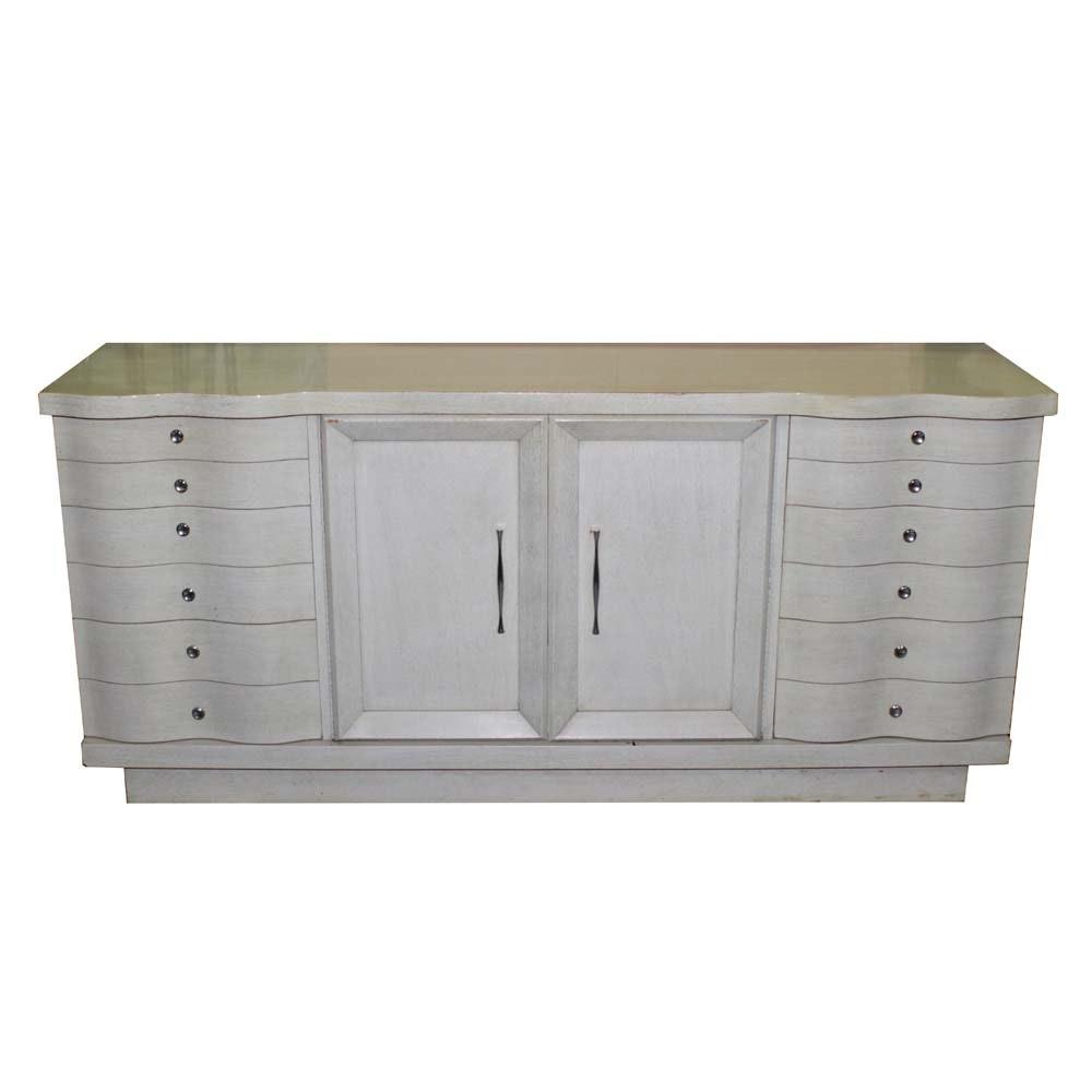Mid Century Modern Pickled Finish Dresser