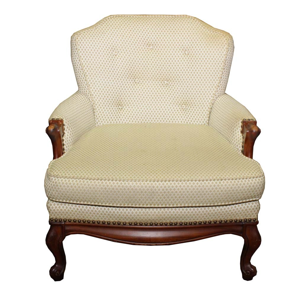 Vintage French Provincial Style Upholstered Chair