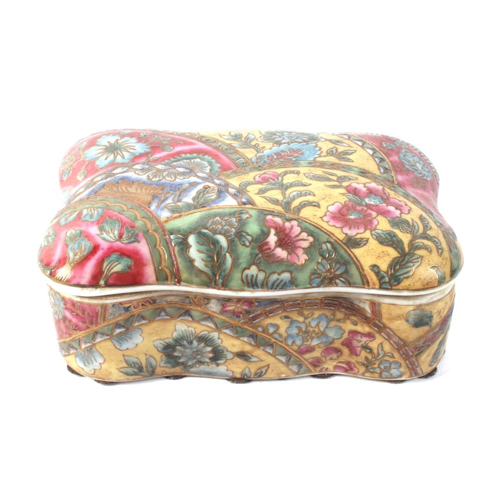 Asian Inspired Porcelain Box