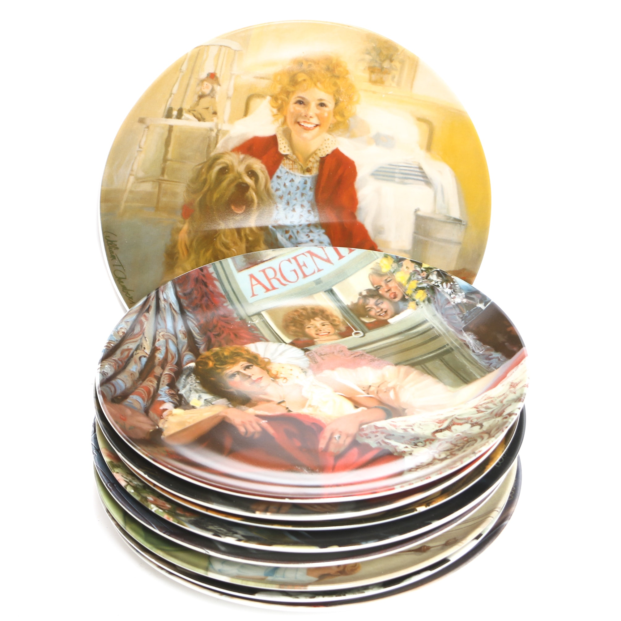 "Edwin M Knowles ""Annie"" Collector Plates"