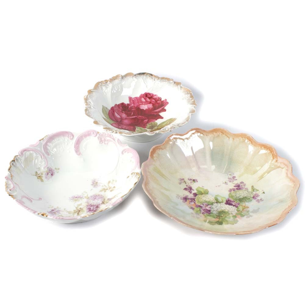 Collection of Decorative Serving Bowls Featuring Welma Germany