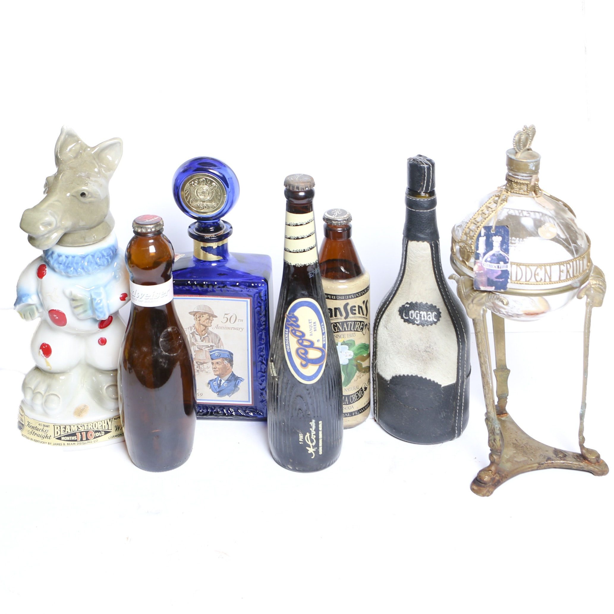Liquor Decanters and Bottles including Jim Beam