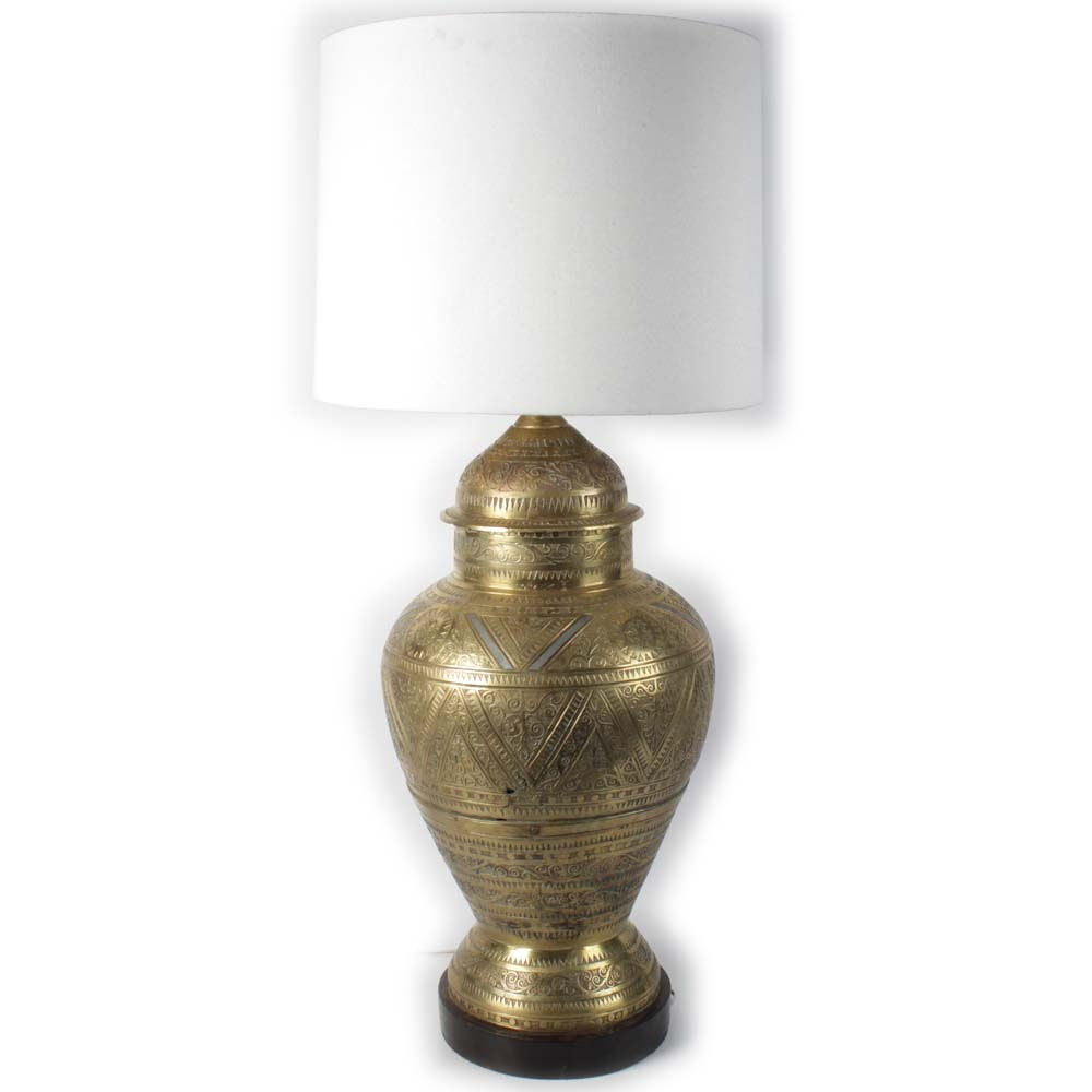 Brass Moroccan Style Table Lamp