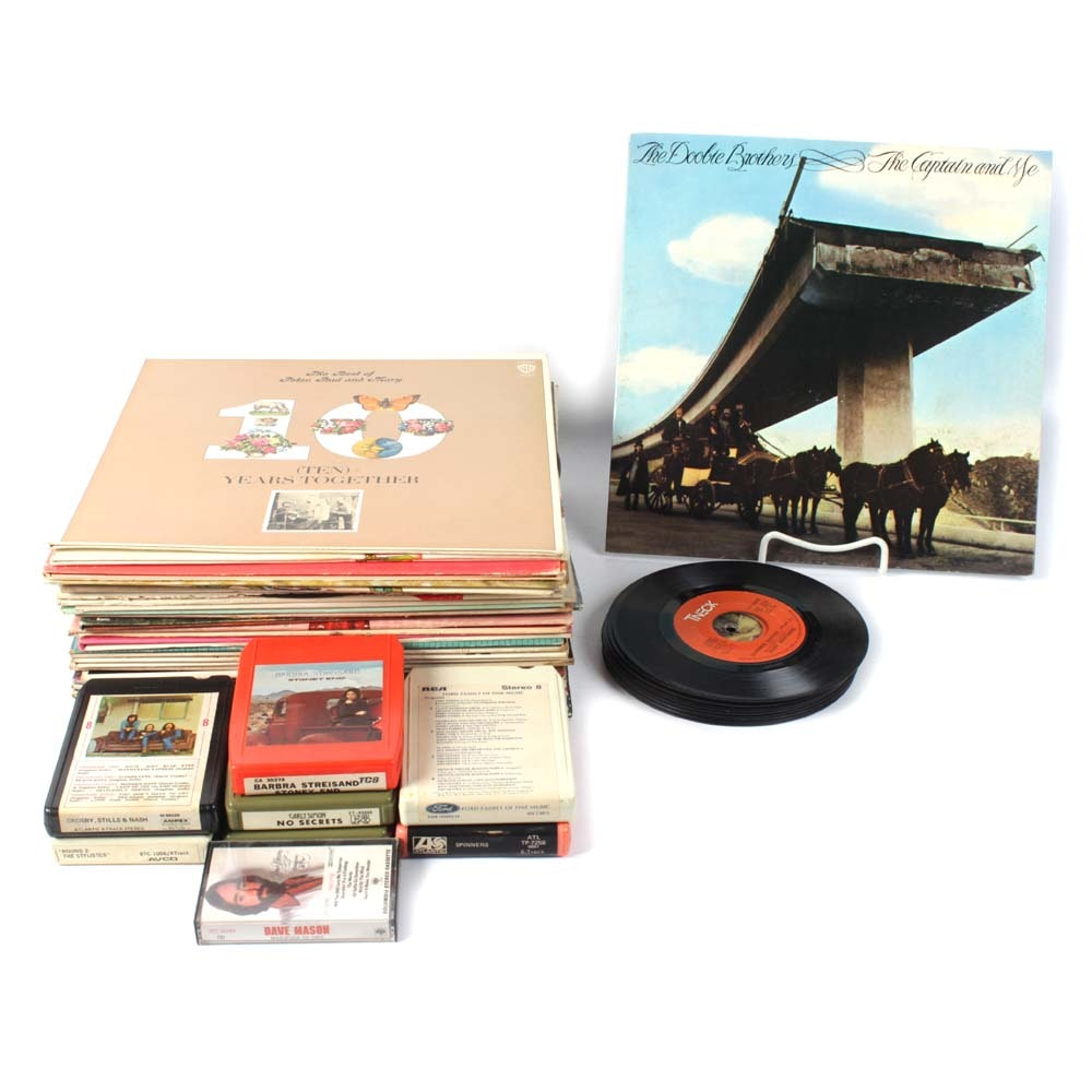 Vintage Vinyl Singles, LP's and 8 Track Tapes