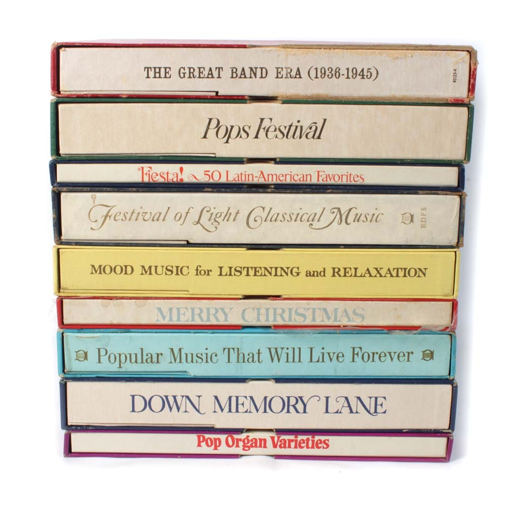 Collection of Reader's Digest Box Record Albums