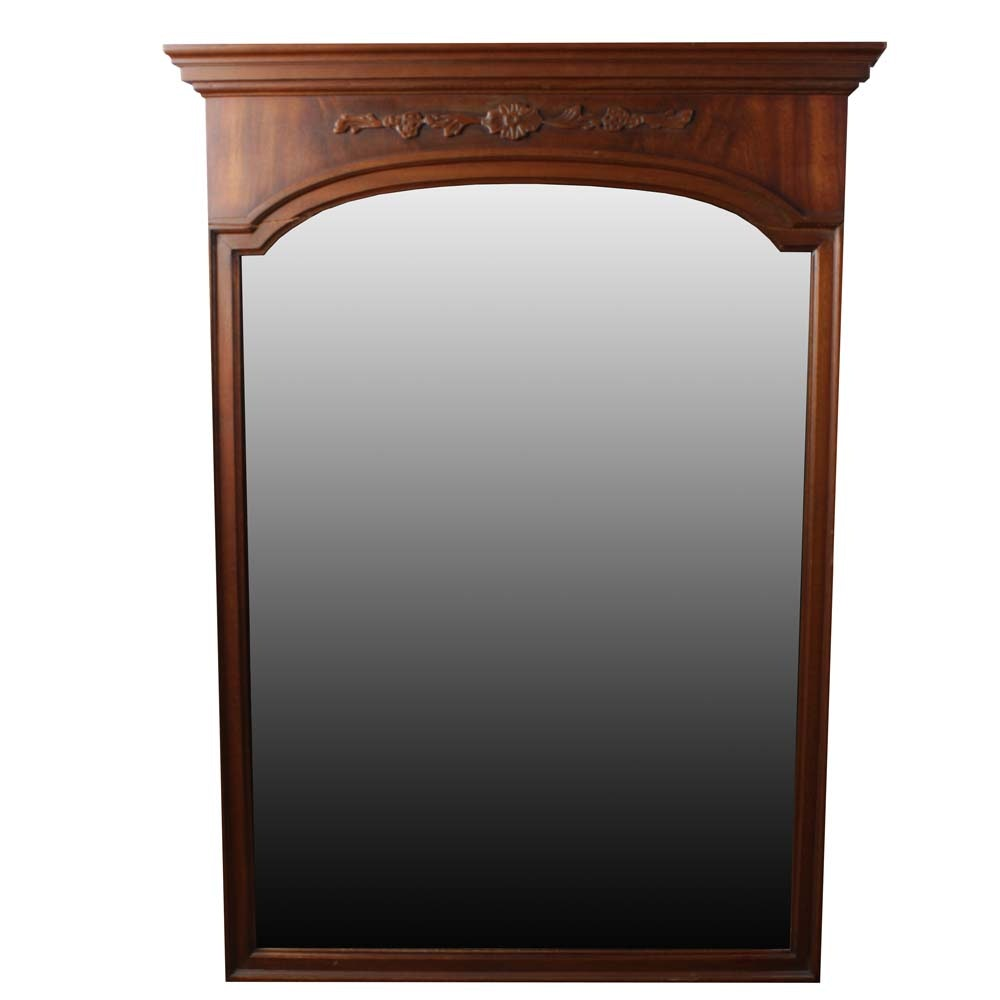 Federal Style Wood Wall Mirror