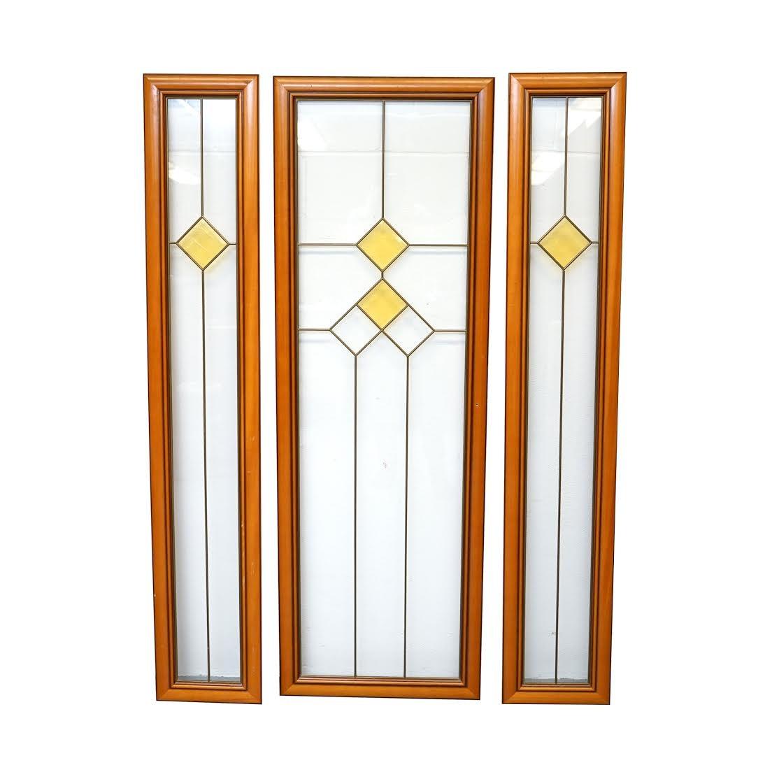 Art Deco Style Glass Door Panels