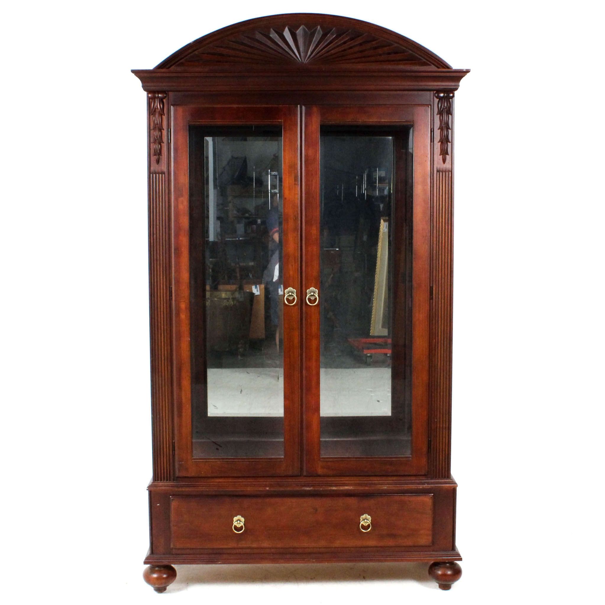 Ethan Allen Glass Front Display Cabinet