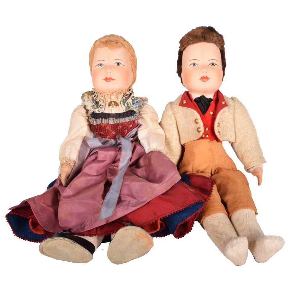 Vintage Hansel and Gretel Dolls