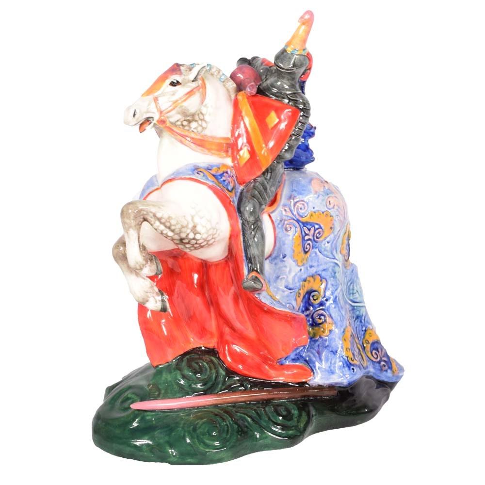 "Vintage Royal Doulton ""The Broken Lance"" Frog Prince Bone China Figurine"