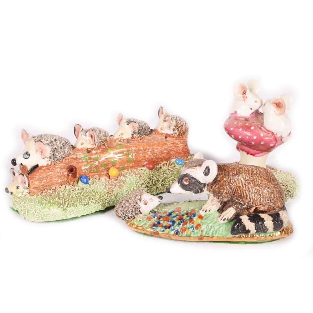 Basil Matthews Hand-Painted Miniature Figurines