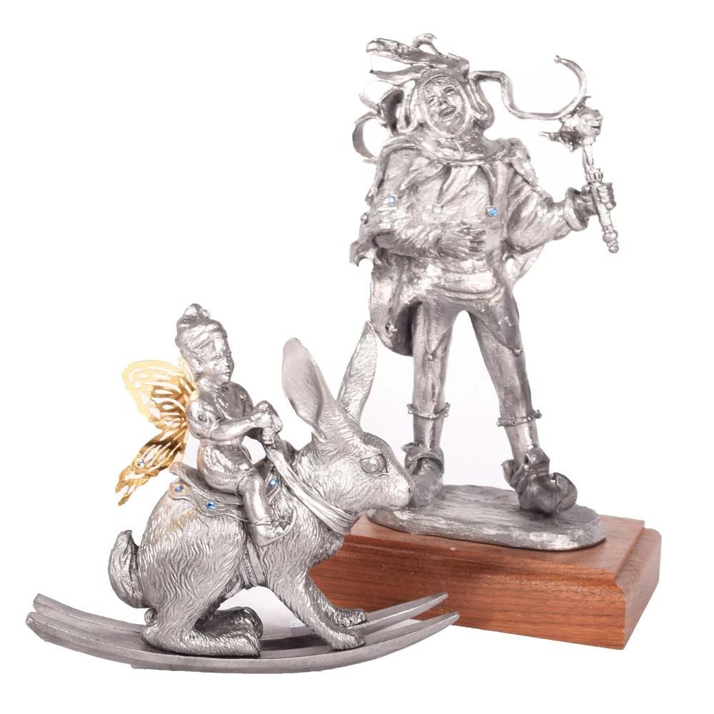 Vintage Handcrafted Ltd. Ed. Michael Ricker Pewter Figurines