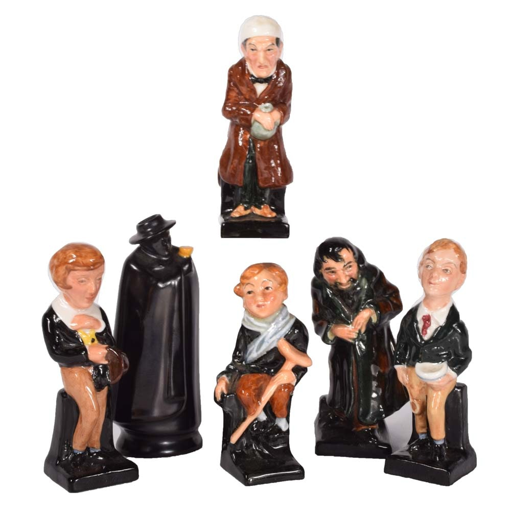 Royal Doulton Bone China Figurines Featuring Charles Dickens Characters