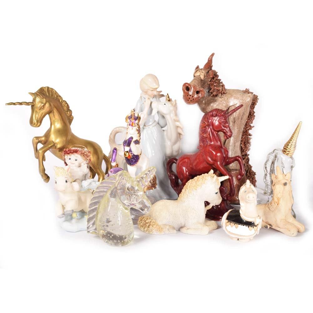 Vintage Unicorn Figurines