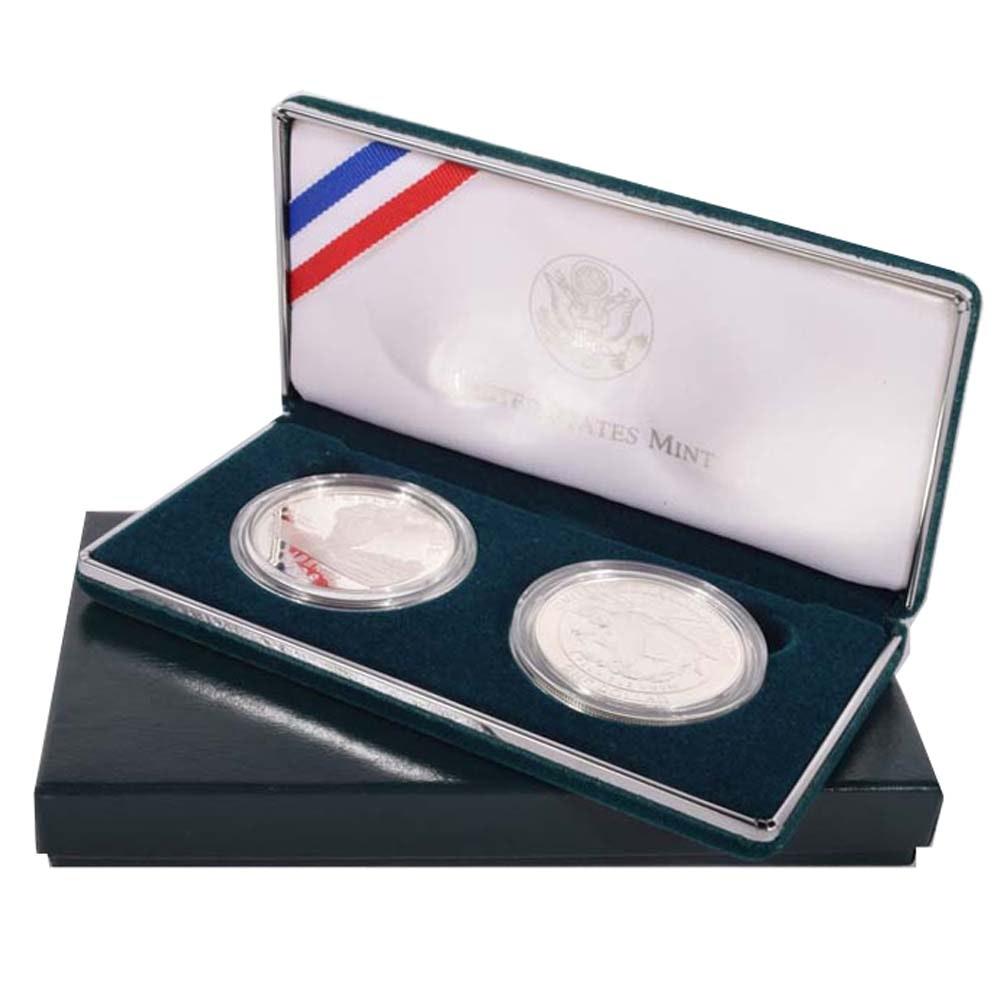 1999 US Mint Yellowstone National Park Commemorative Silver Dollar Set