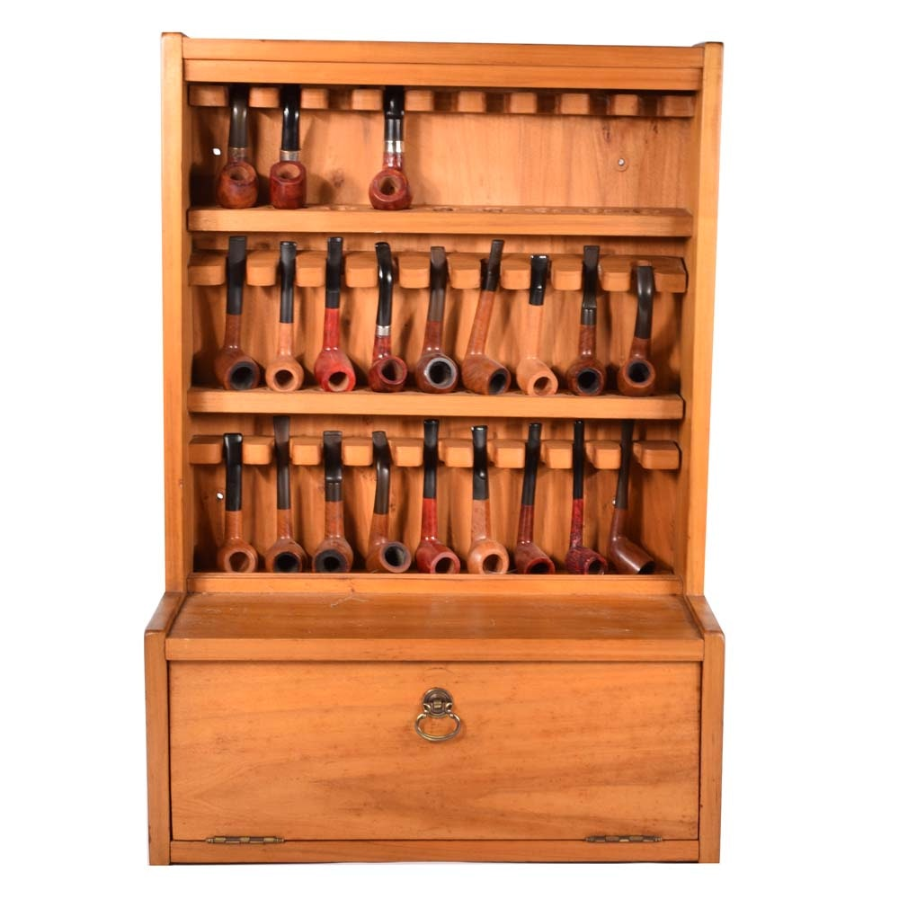 Maple Pipe Case and Pipes