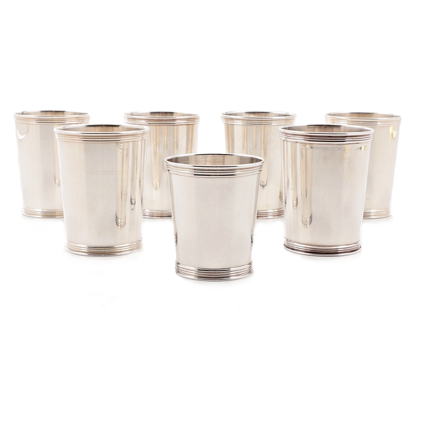 Set of Seven Benjamin Trees Sterling Silver Mint Julep Cups