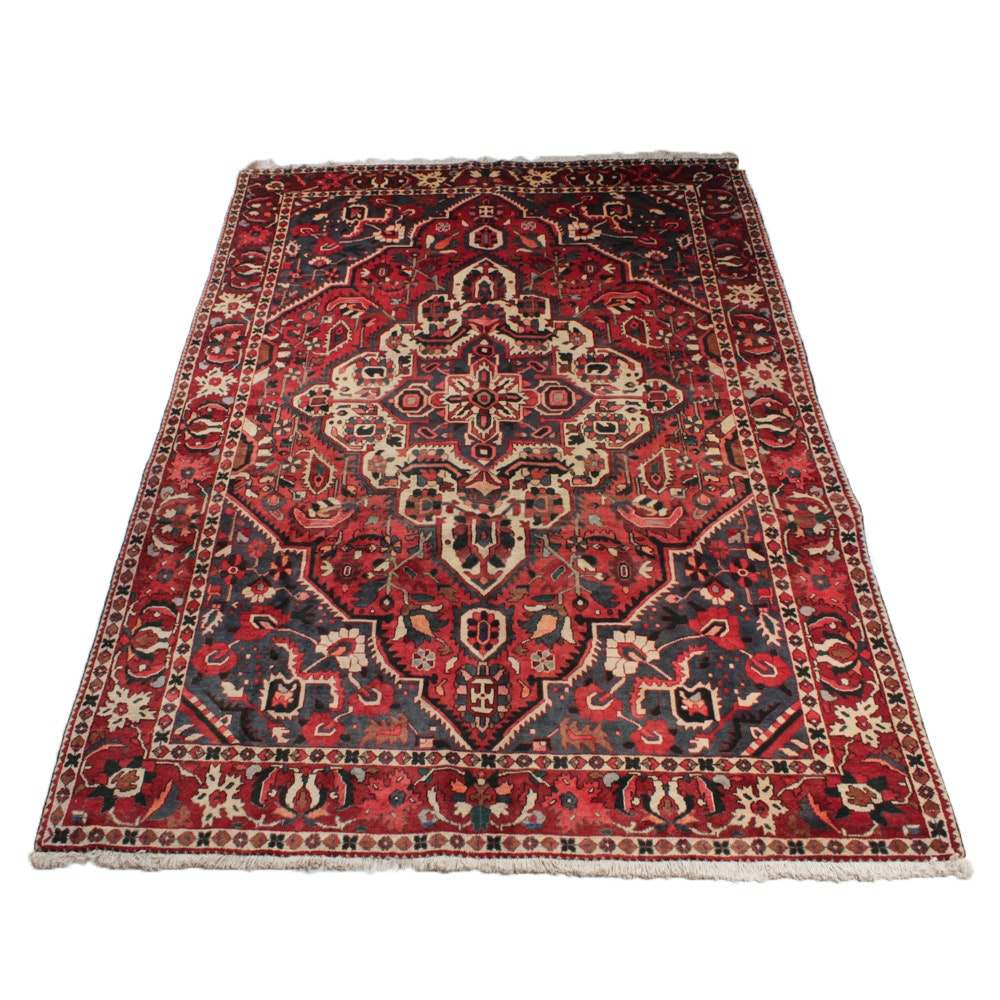 Semi-Antique Hand-Knotted Persian Bakhtiari Rug