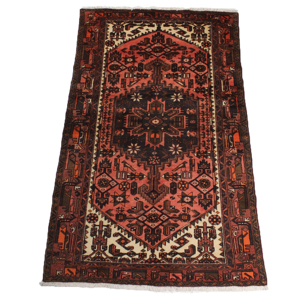 Vintage Fine Hand-Knotted Persian Malayer Rug