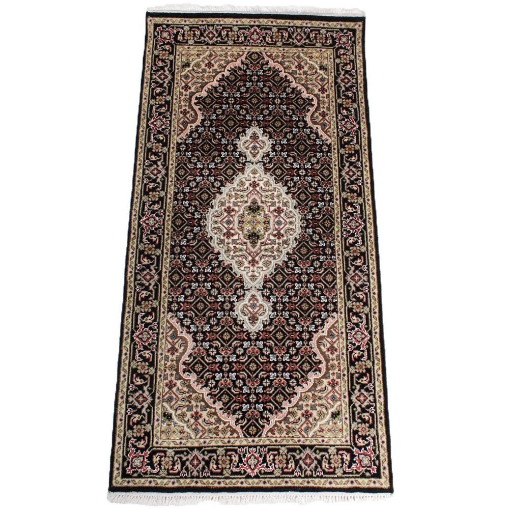 Fine Hand-Knotted Silk Blend Sino-Persian Tabriz Rug