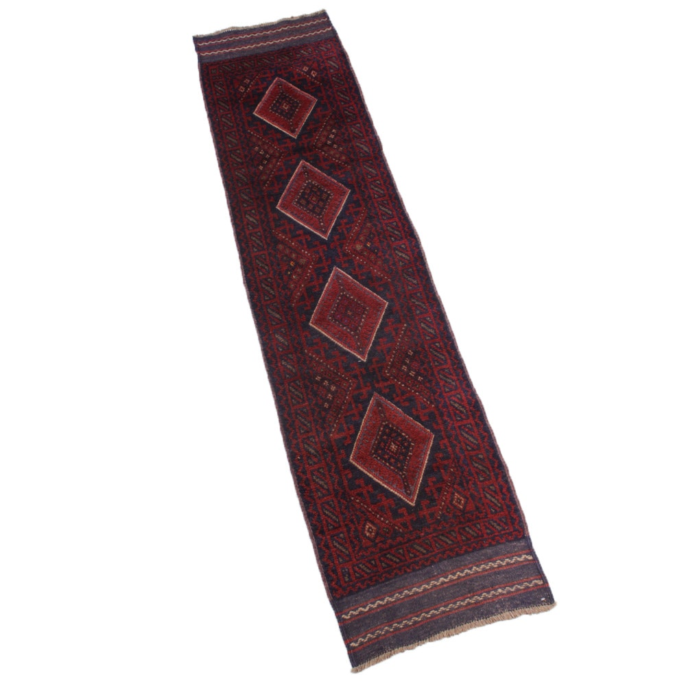 Semi-Antique Hand-Knotted Afghani Turkoman Runner