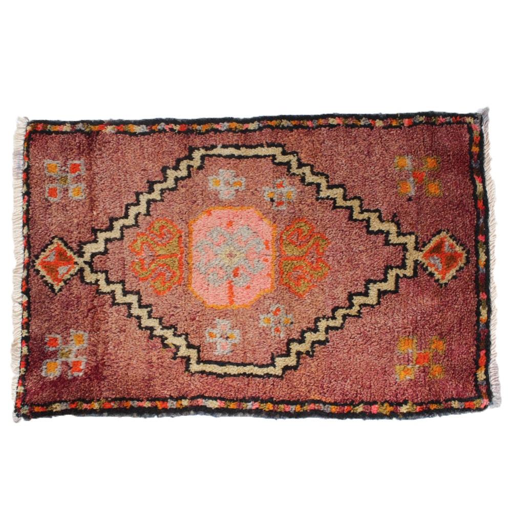 Antique Hand-Knotted Turkish Oushak Rug