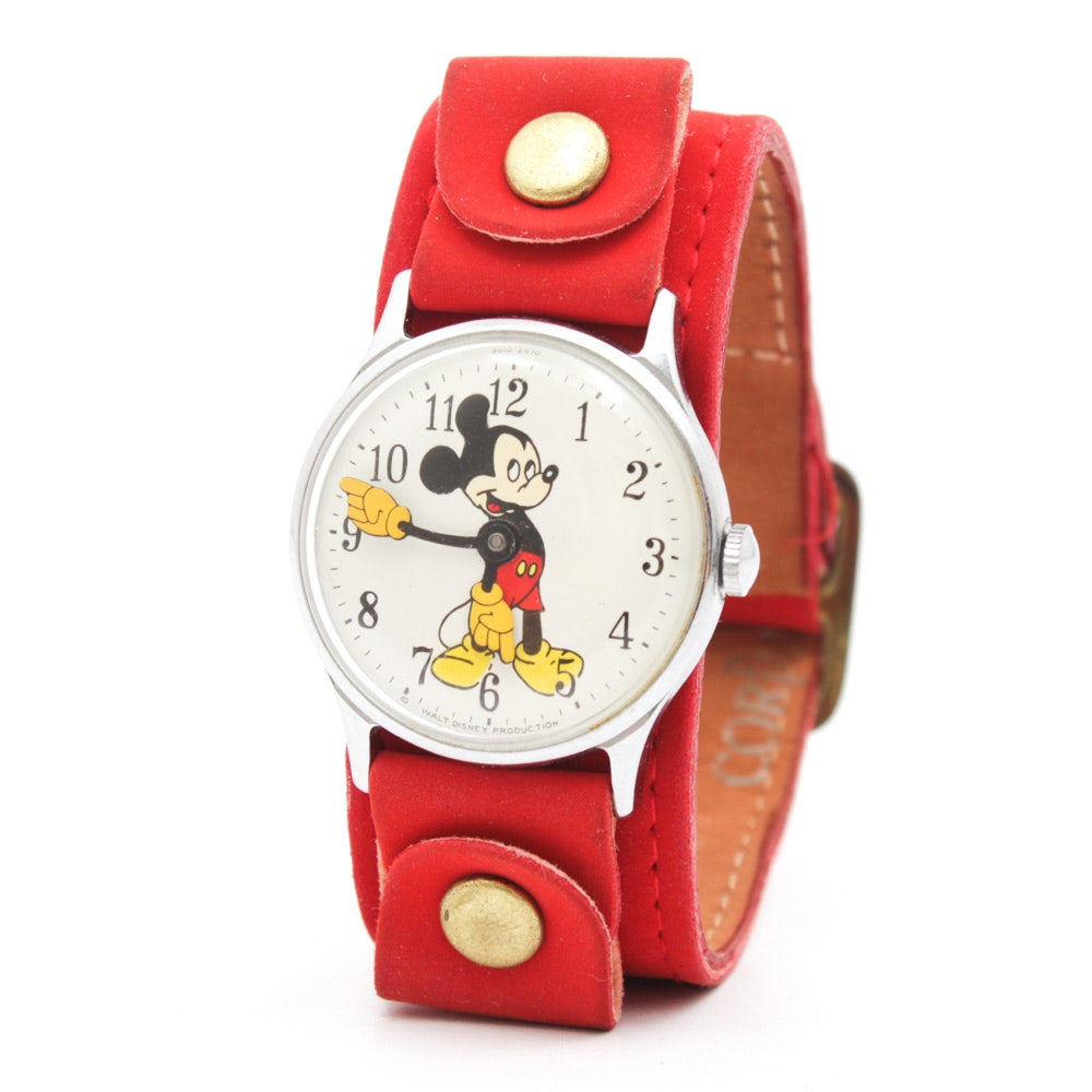 Vintage Walt Disney Productions Mickey Mouse Wristwatch