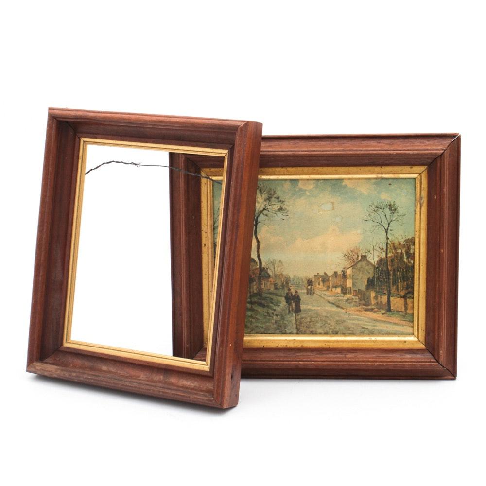 Antique Walnut Picture Frames