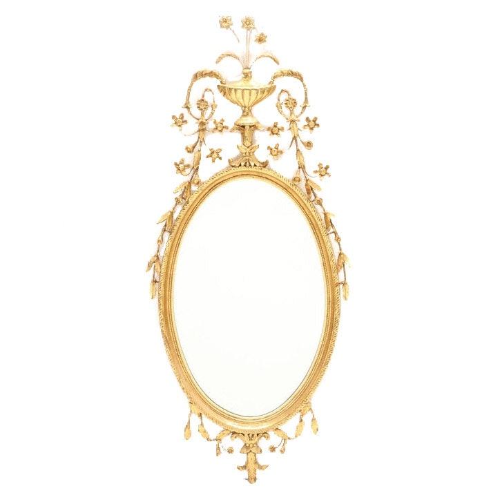 Gilt Hepplewhite Mirror by Colonial Williamsburg