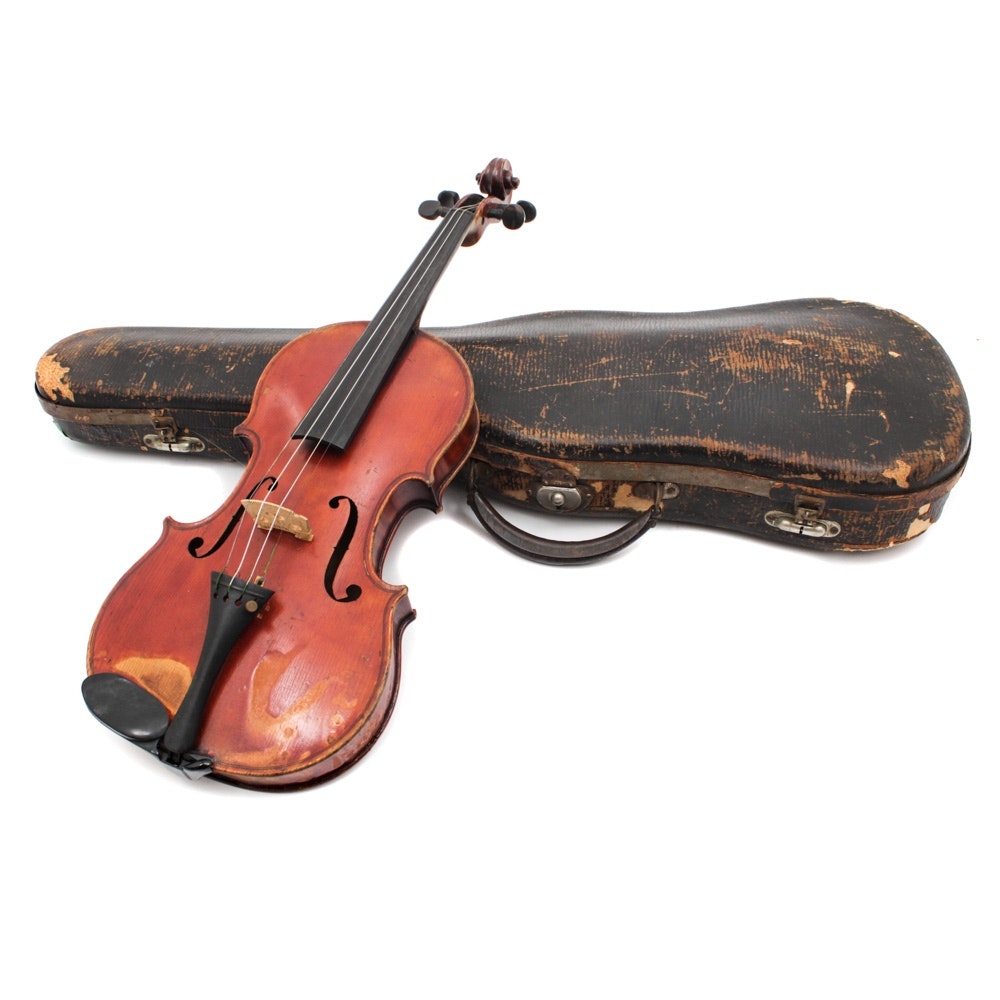 Late 19th Century Robert Glier 4/4 Violin with Case
