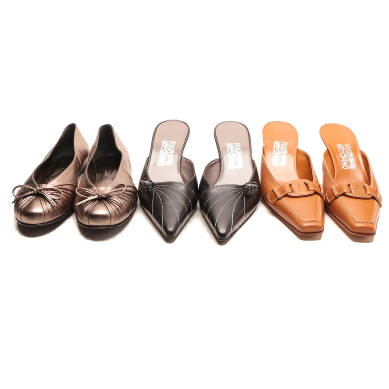 Salvatore Ferragamo Leather Heels and Flats