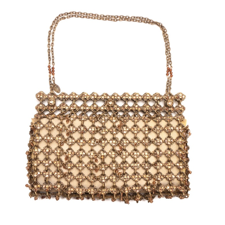 Clara Kasavina Rhinestone Embellished Chain Mail Bag
