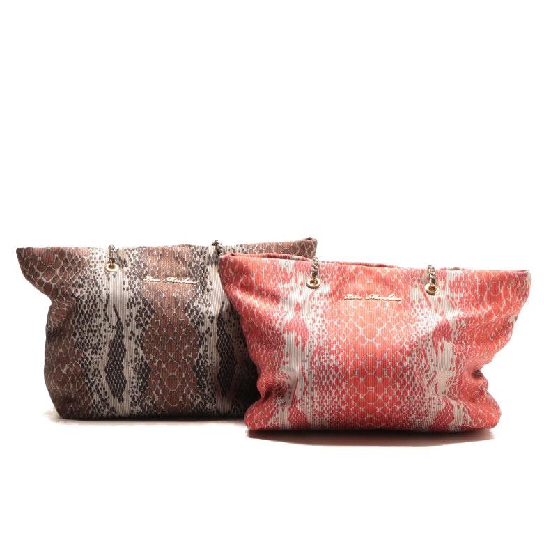 Love Moschino Snakeskin Print Tote Bags