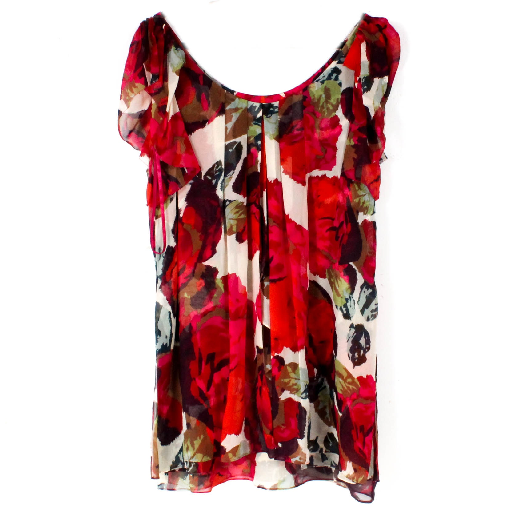 Diane von Furstenberg Silk Chiffon Mini Shift Dress