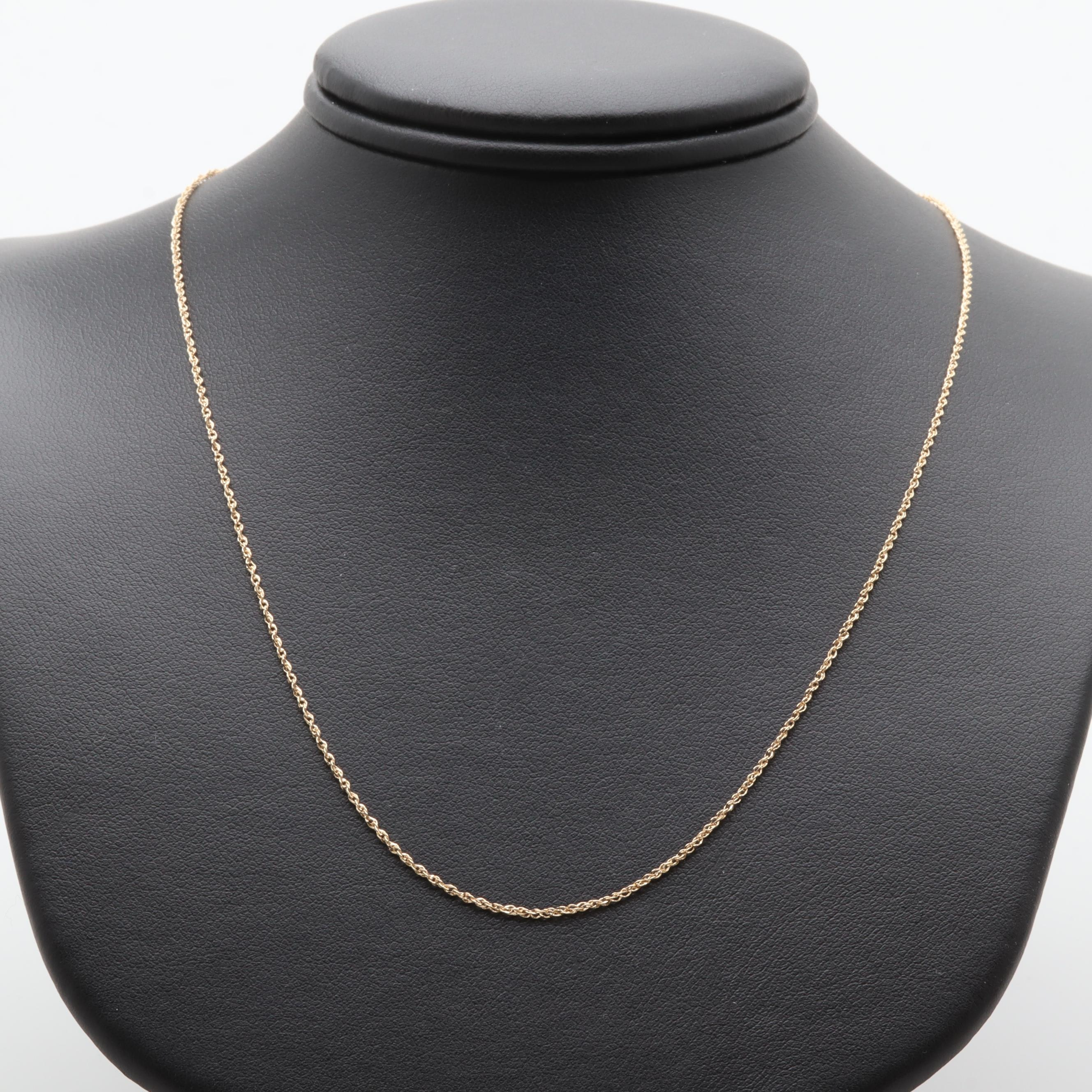 14K Yellow Gold Custom Chain Necklace