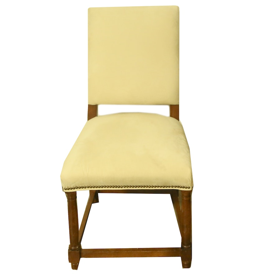 Pale Yellow Upholstered Side Chair