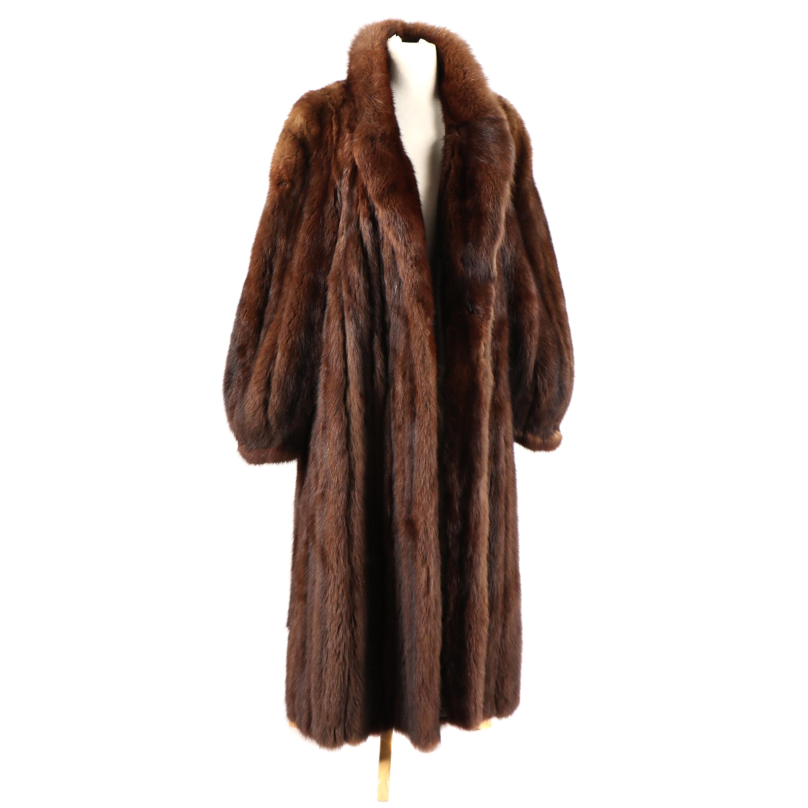 Vintage Louis Milona Canadian Sable Fur Full-Length Coat