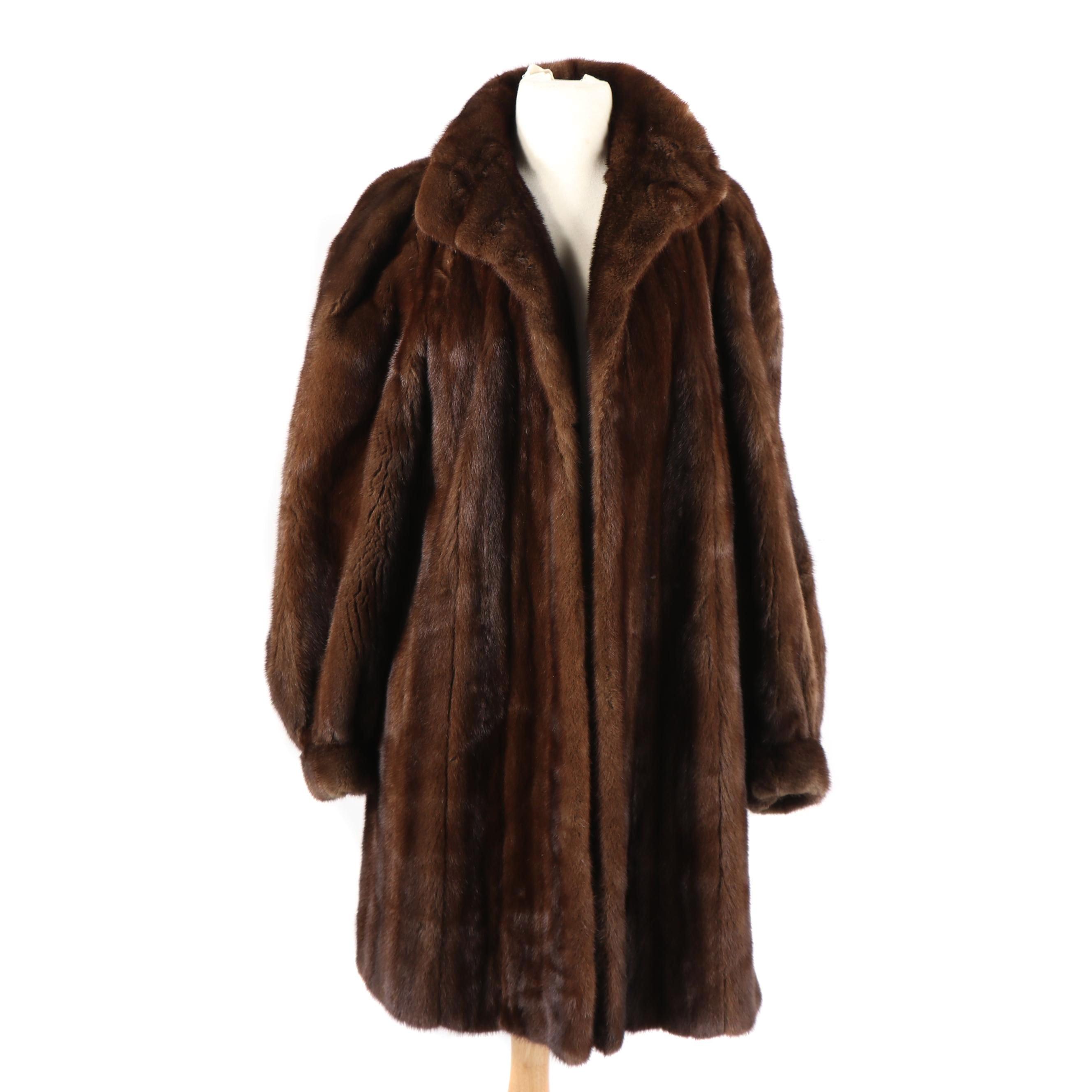 Vintage Szor-Diener Mink Fur Coat