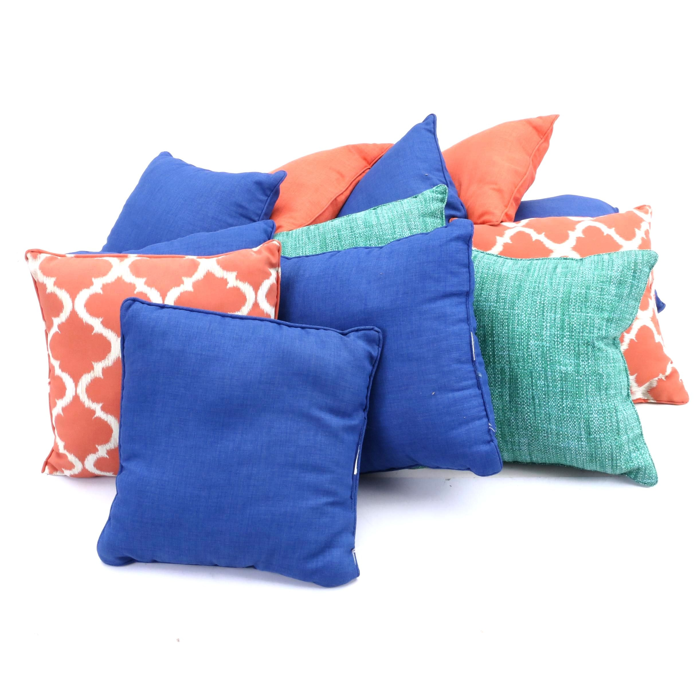 Decorative Accent Pillows Including Solarium