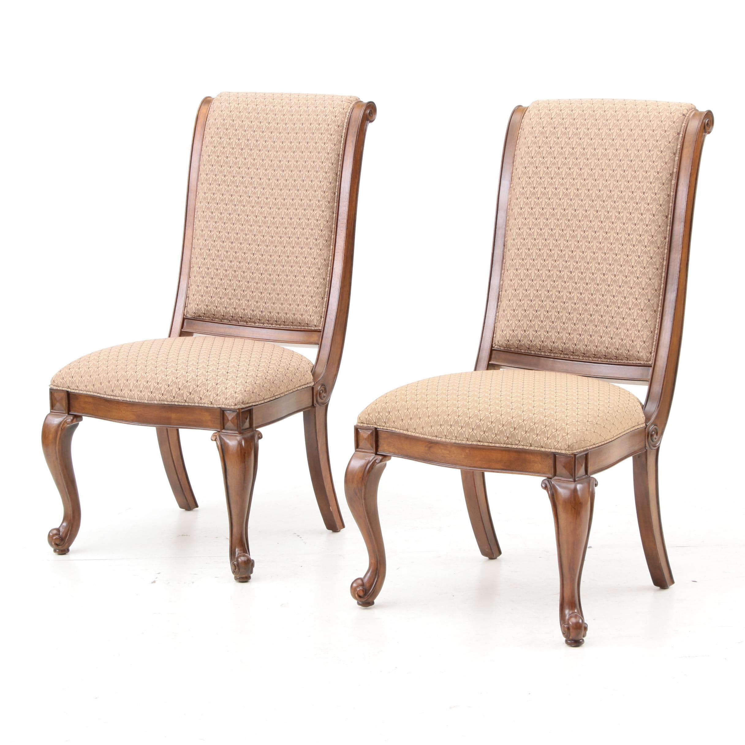 French Provincial Style Upholstered Side Chairs by American Drew