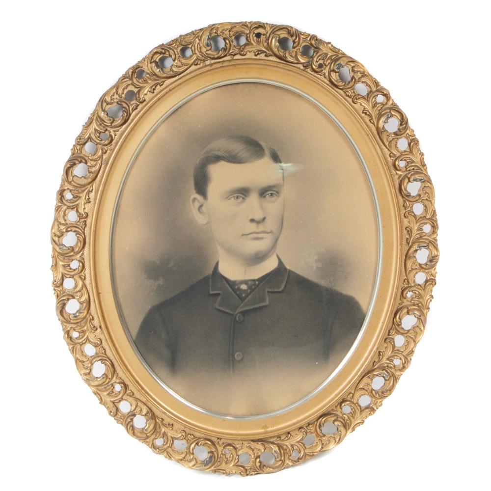 Antique Oval-Framed Portrait
